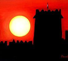 Sun Set UAE by pilanehimself