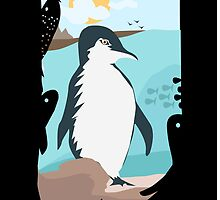 Penguin Vacation by crouchingpixel