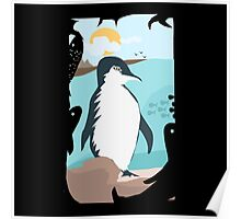 Penguin Vacation Poster