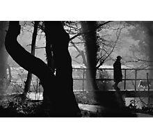 Walking the Dog [BW] Photographic Print