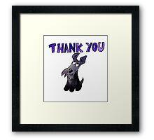 Scottie Dog Thank you Framed Print