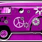 VW Flower Power Camper in magenta by ©The Creative  Minds