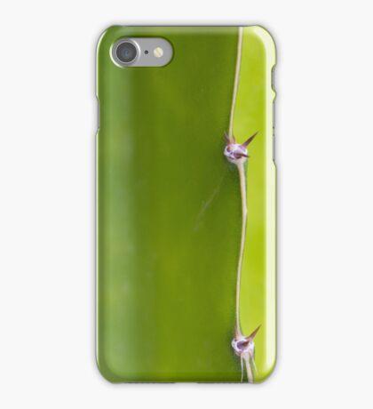 Fresh green Cactus Macro - Yellow / Green iPhone Case/Skin