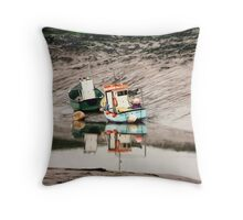 Cornish Seaside Throw Pillow