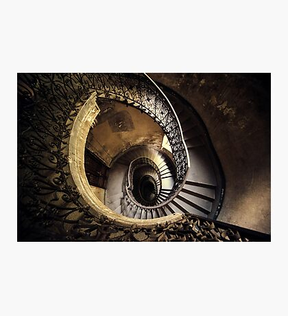 Abandoned spiral staircase Photographic Print