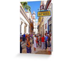 Havana Street View Greeting Card