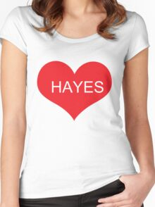 HAYES GRIER Women's Fitted Scoop T-Shirt