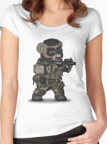 FOO-BEAR (Tan) Women's Fitted Scoop T-Shirt