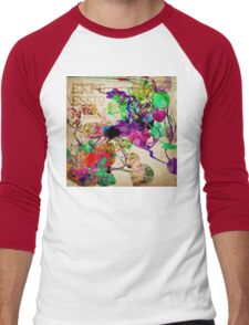 Abstract Mixed Media Men's Baseball ¾ T-Shirt