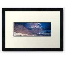 blue clouds in sunset  Framed Print