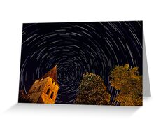 Startrails over Carennac, France Greeting Card