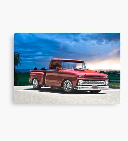 1966 Chevrolet 'Stepside' Pick Up Canvas Print