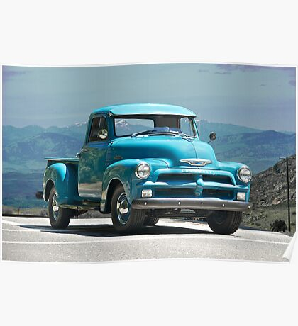 1954 Chevrolet 'Down Home' Pick Up Truck Poster