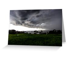 Stormy Sky, Silverdale, UK Greeting Card