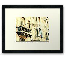 Old Building Facade Framed Print