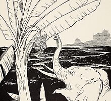 The Elephant's Child going to pull bananas off a banana-tree by Bridgeman Art Library