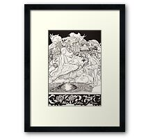 Pau Amma the Crab running away while the Eldest Magician was talking to the Man and his Little Girl Daughter Framed Print