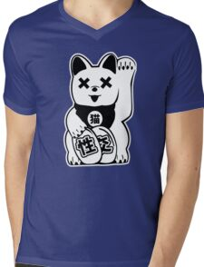 Maneki Neko Mens V-Neck T-Shirt