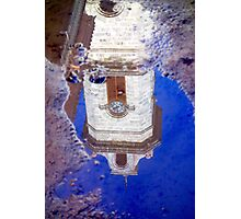 Clock Tower Reflected Photographic Print