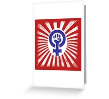 Feminist Logo Greeting Card