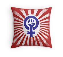 Feminist Logo Throw Pillow