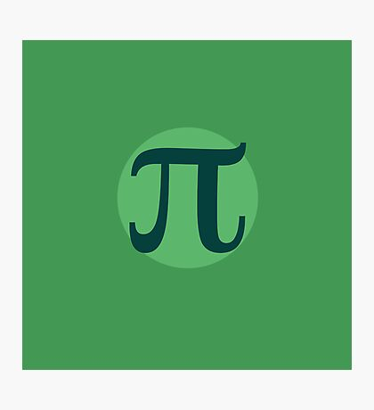 Pi for pi day Photographic Print