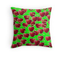 Luscious Lime Green Cherry Splash Throw Pillow