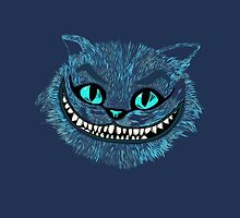 Alice's Cheshire blue head iPad by EdWoody