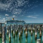 Princess Pier with Costa Deliziosa behind it  by djzontheball