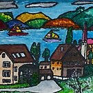 Pretty Folksy Swiss Lucerne by Monica Engeler