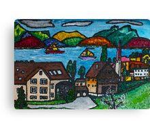 Pretty Folksy Swiss Lucerne Canvas Print