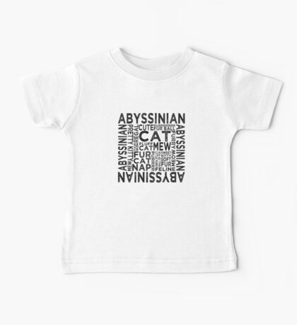 Abyssinian Cat Typography Baby Tee