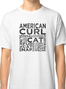 American Curl Cat Typography Classic T-Shirt