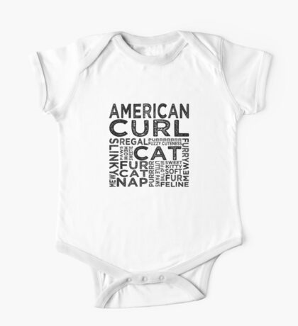 American Curl Cat Typography One Piece - Short Sleeve