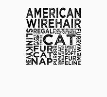 American Wirehair Cat Typography Womens Fitted T-Shirt