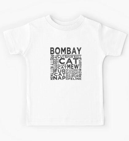 Bombay Cat Typography Kids Tee