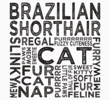Brazilian Shorthair Cat Typography Kids Clothes