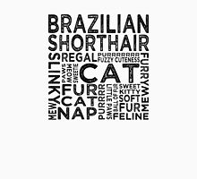 Brazilian Shorthair Cat Typography Womens Fitted T-Shirt