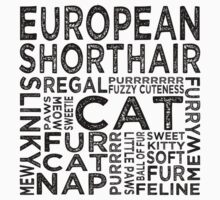 European Shorthair Cat Typography by Wordy Type