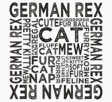 German Rex Cat Typography Kids Clothes