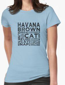 Havana Brown Cat Typography T-Shirt
