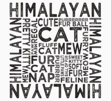 Himalayan Cat Typography Kids Clothes
