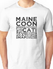 Maine Coon Cat Typography Unisex T-Shirt
