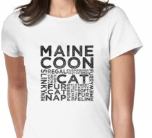 Maine Coon Cat Typography Womens Fitted T-Shirt