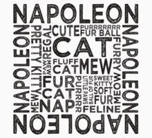 Napoleon Cat Typography Kids Tee