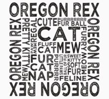 Oregon Rex Cat Typography Kids Clothes