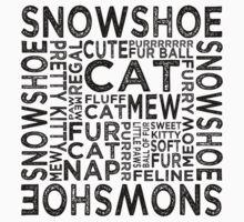 Snowshoe Cat Typography Kids Clothes