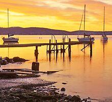 Battery Point Sunrise HDR - Sandy Bay, Tasmania, Australia by PC1134