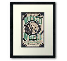 Wicked Wheel Weiß | FFXIV Framed Print