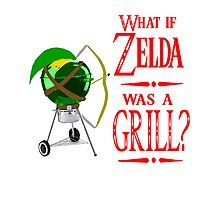What if Zelda was a Grill? Photographic Print